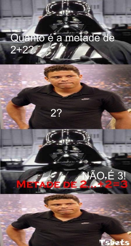 Ronaldo usando a matemática